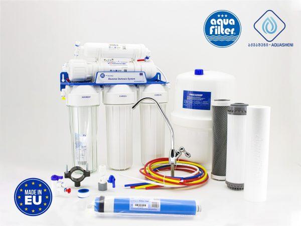 სასმელი წყლის გაფილტრვა უკუოსმოსის სისტემით ვირუსებისა და ბაქტერიებისაგან